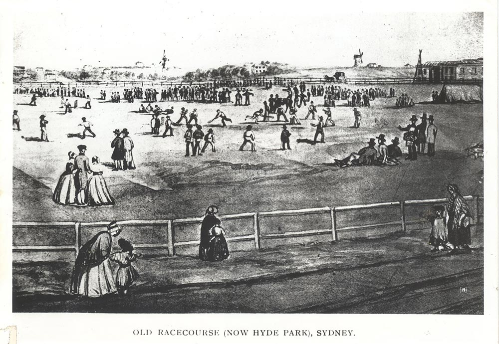 Hyde Park in the early days of the colony, unknown artist