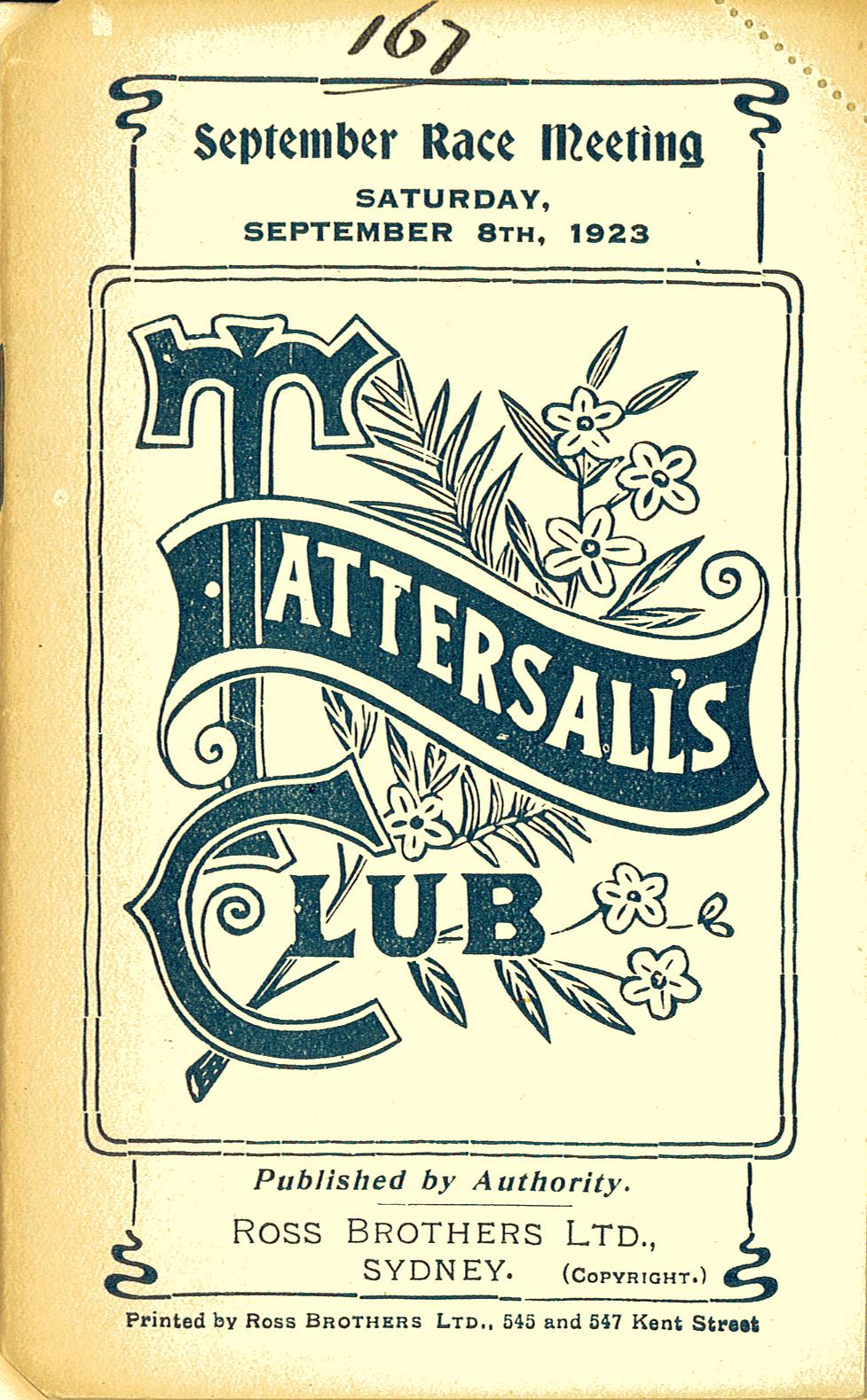 Tattersalls Racebook